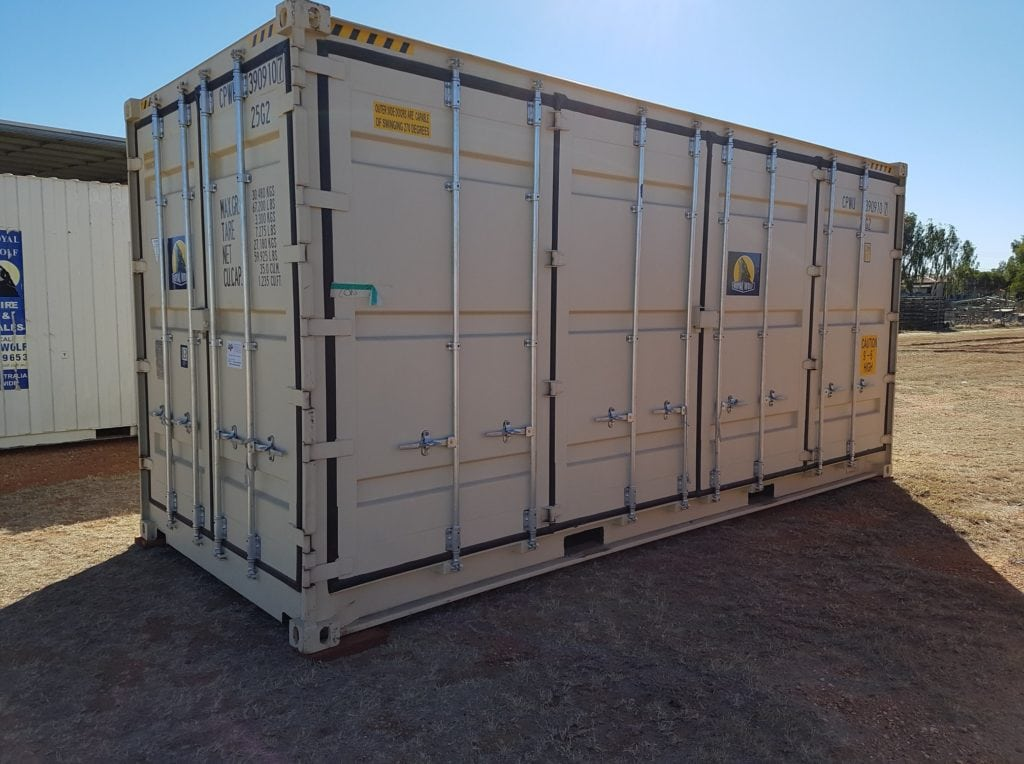 Containers: 20ft (6 metre) Side-opening Hicube